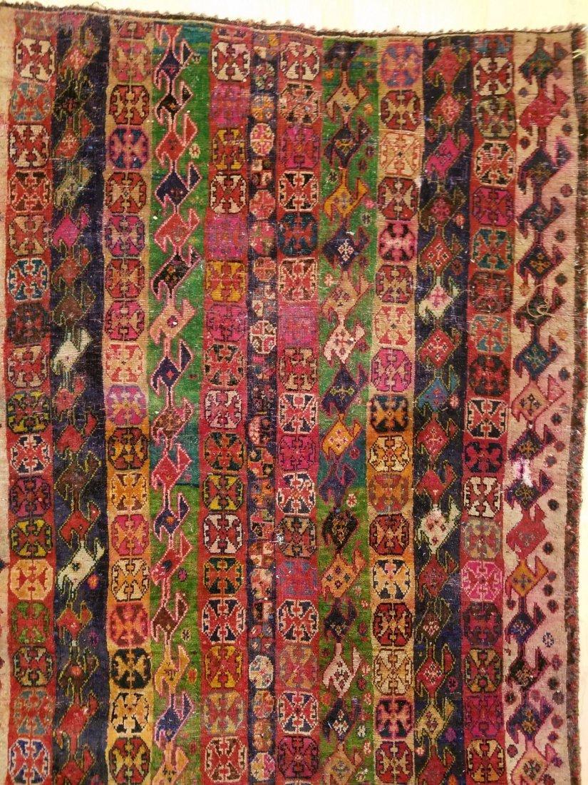 Vintage Hand-Knotted Afghan Nomad Rug 6.5x3.9 - 3