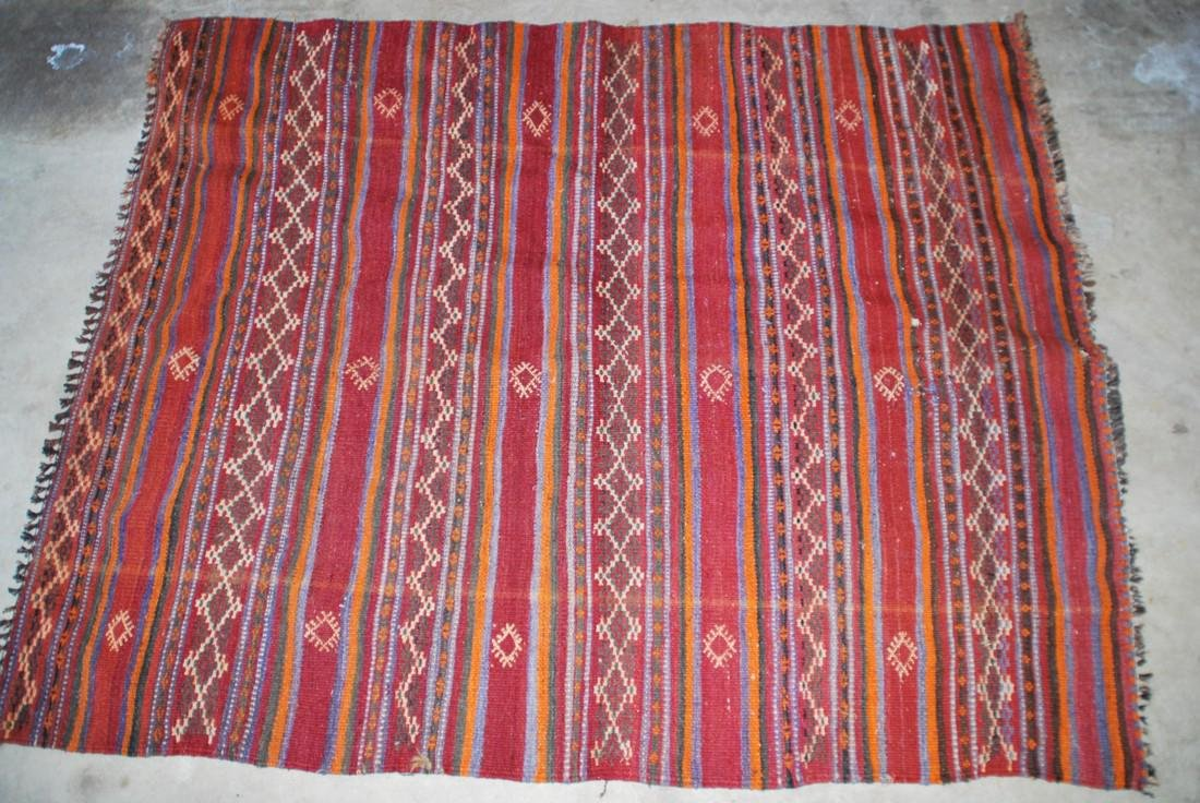 Antique Afghan Kilim Rug 5.2x4.1