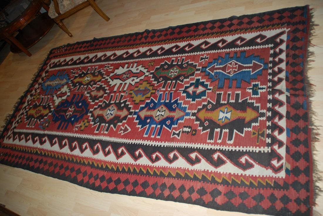 Antique Tunisian Kilim Rug 10x5.4