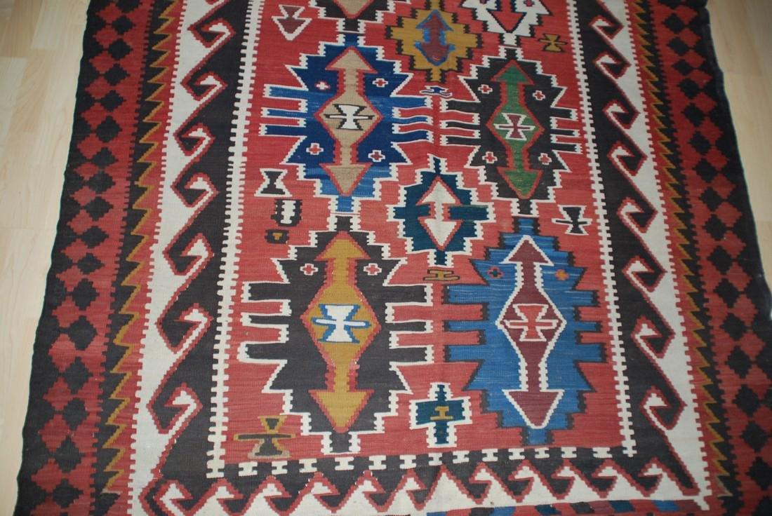 Antique Tunisian Kilim Rug 10x5.4 - 2