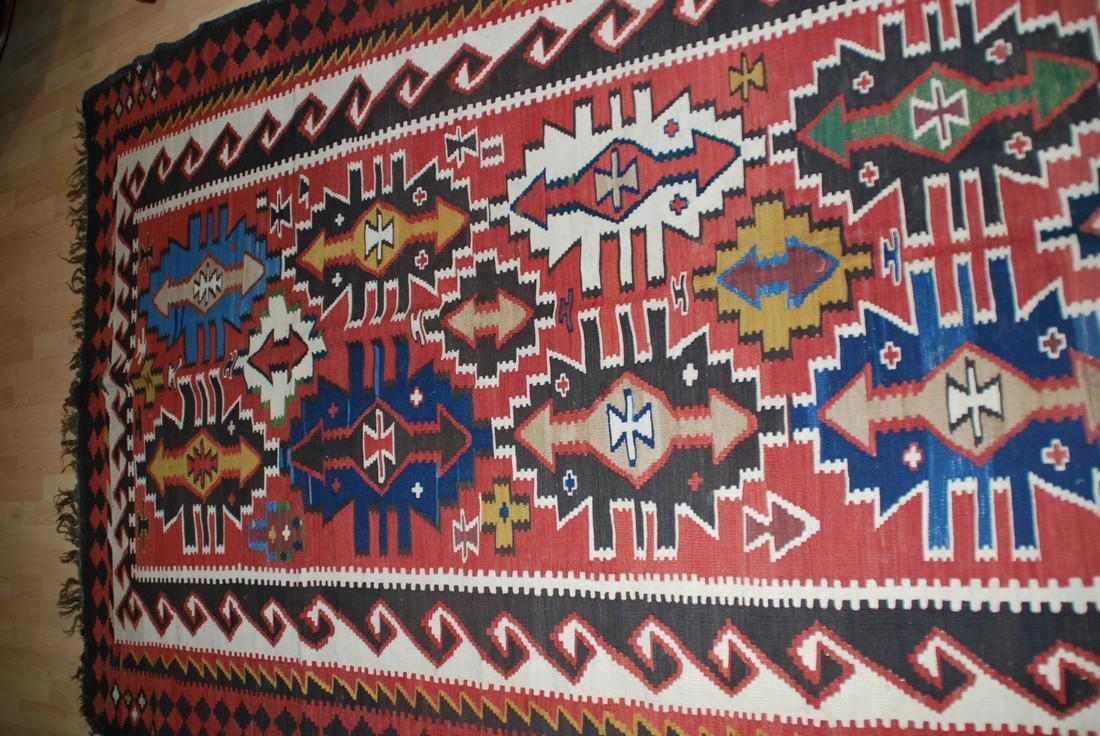 Antique Tunisian Kilim Rug 10x5.4 - 3