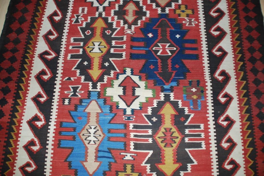 Antique Tunisian Kilim Rug 10x5.4 - 4