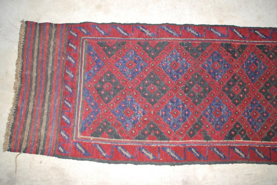 Herati Afghan Runner Rug 8.3x1.9 - 2
