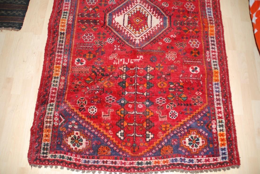 Antique Persian Tribal, Unique Animal Motif Rug 6.1x4 - 2