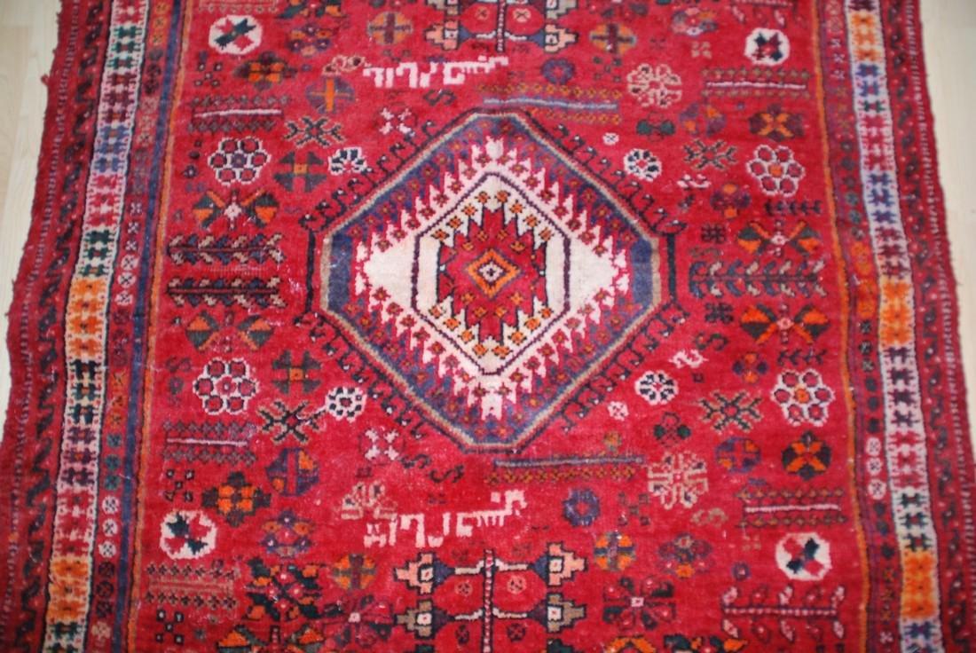 Antique Persian Tribal, Unique Animal Motif Rug 6.1x4 - 3