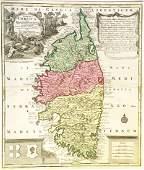 Seutter: Antique Map of Corsica, 1740