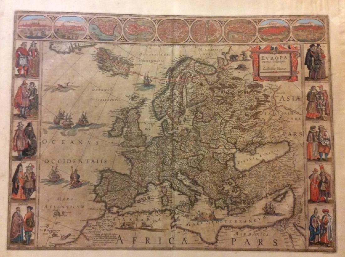 Blaeu: Antique Map of Europe, 1650