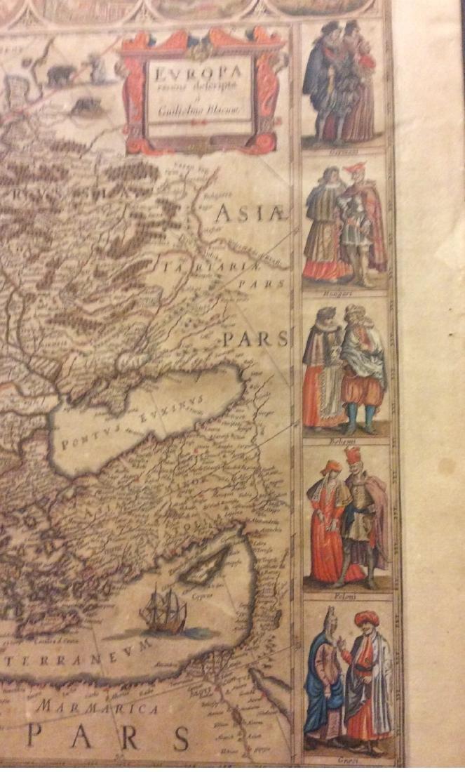 Blaeu: Antique Map of Europe, 1650 - 2