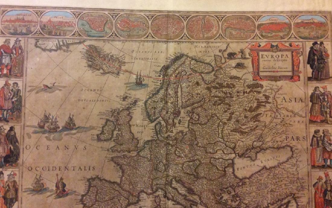 Blaeu: Antique Map of Europe, 1650 - 4