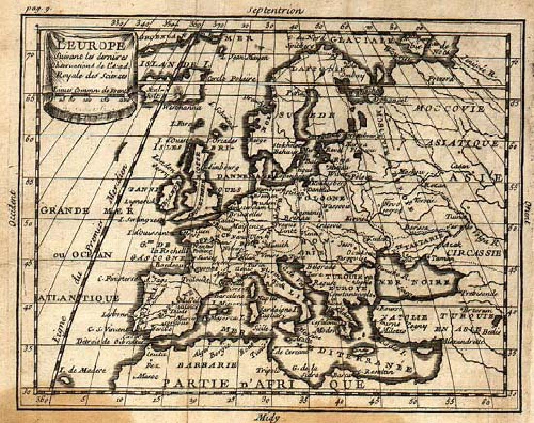 Desbruslins: Antique Map of Europe, 1744 - 2