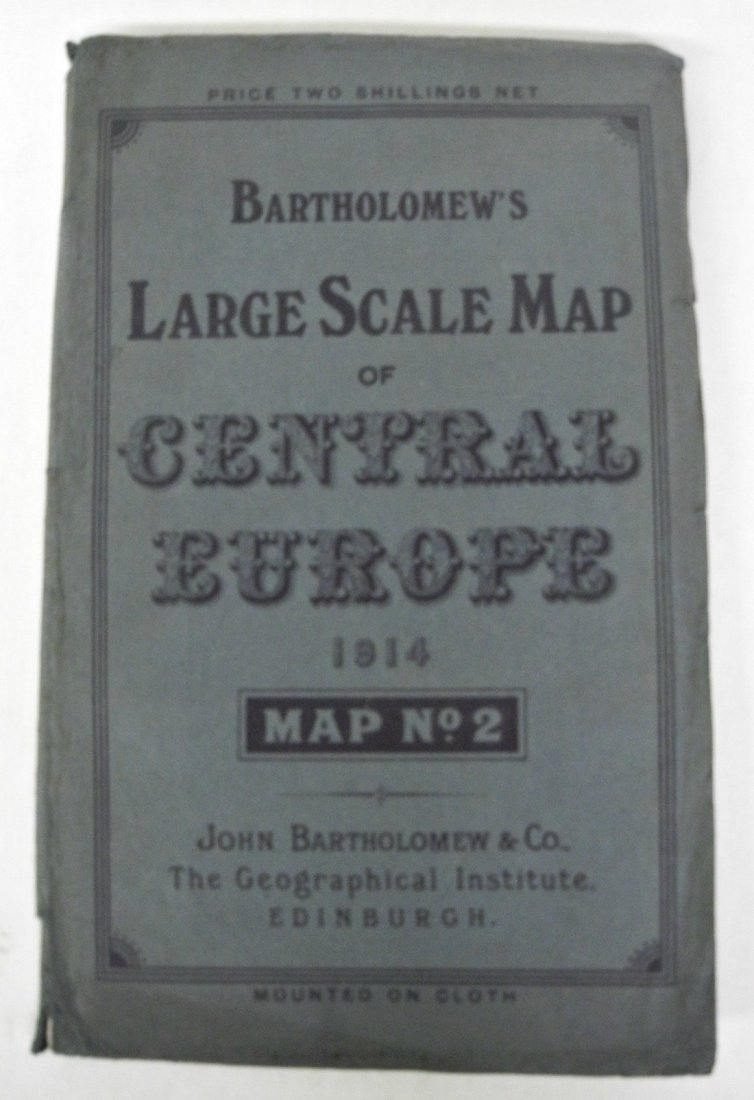 Bartholomew's Large Scale Map of Central Europe, 1914
