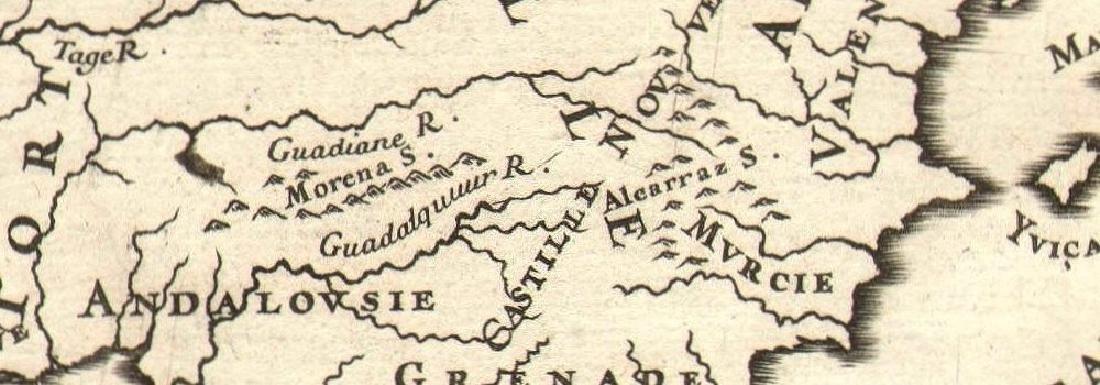 Mallet: Antique Map of Iberia, Spain & Portugal, 1683 - 2