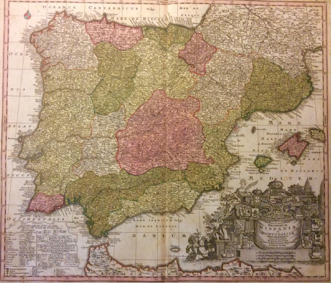 Seutter: Antique Map of Spain & Portugal, 1740