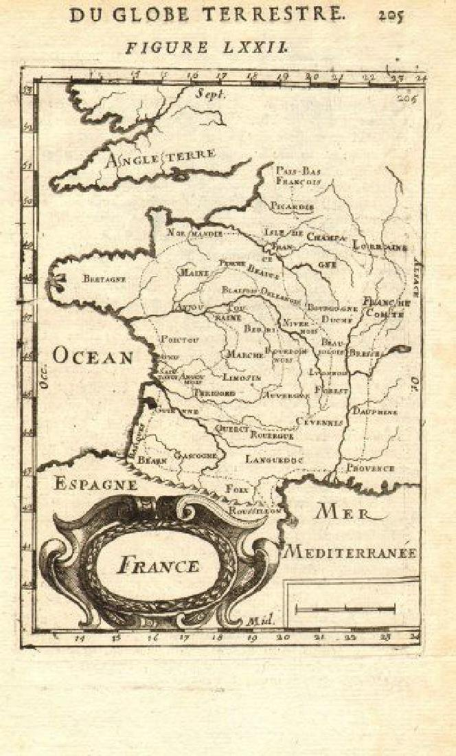 Mallet: Antique Map of France in Regions, 1683