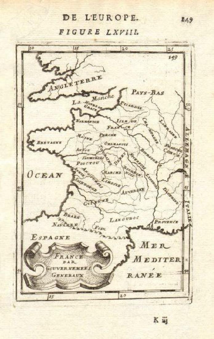 Mallet: Antique Map of France, 1683