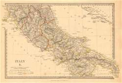 SDUK: Antique Map of Southern Italy, 1845