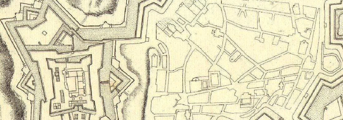 de Fer: Antique Map of Pinerolo, Italy, 1705 - 2