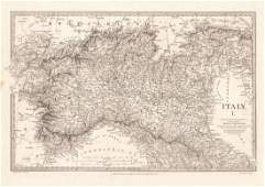 SDUK: Antique Map of Italy in 3 Sheets, 1830