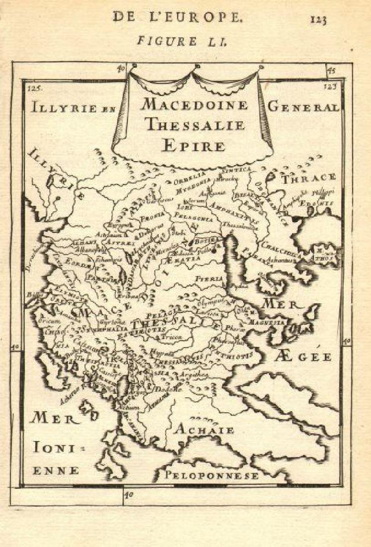 Mallet: Antique Map of Northern Greece, 1683
