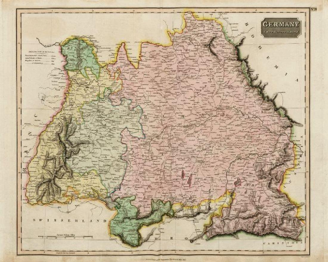 Thomson: Antique Map of Southern Germany, 1817