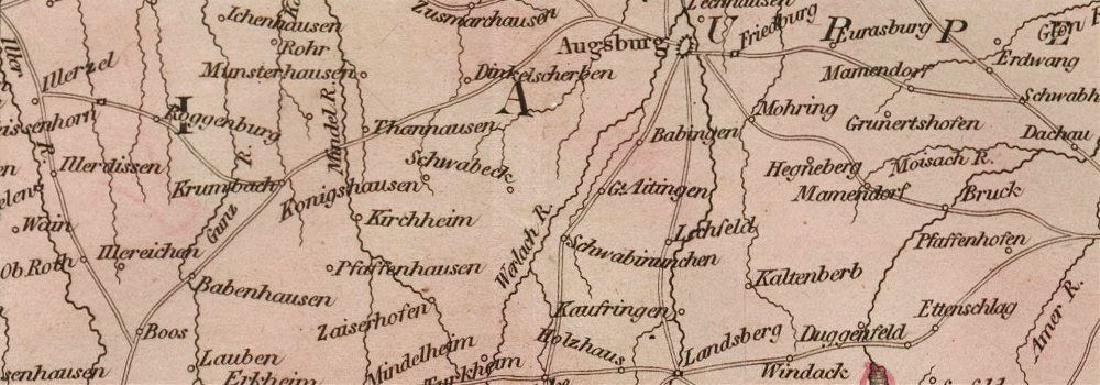 Thomson: Antique Map of Southern Germany, 1817 - 2