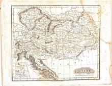 Malte-Brun: Antique Map of Austria, 1834