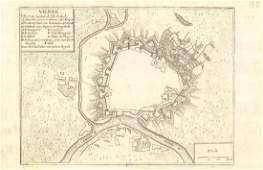 de Fer: Antique Map of Vienna, Austria, 1705