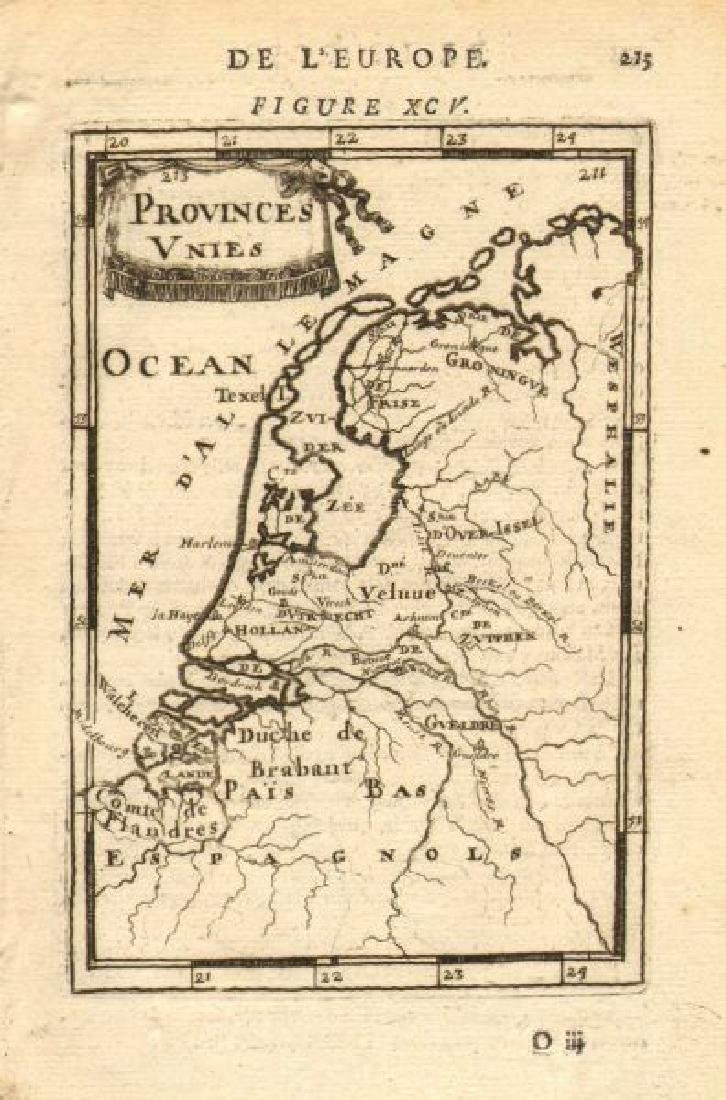 Mallet: Antique Map of the Netherlands, 1683