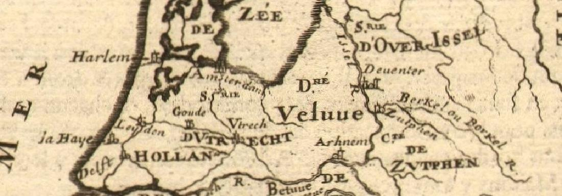 Mallet: Antique Map of the Netherlands, 1683 - 2