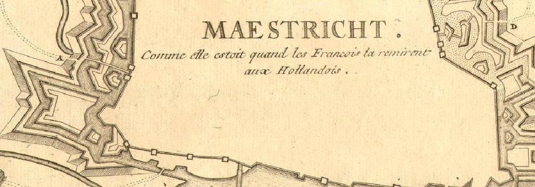 de Fer: Antique Map of Maestricht, Netherlands, 1705 - 2
