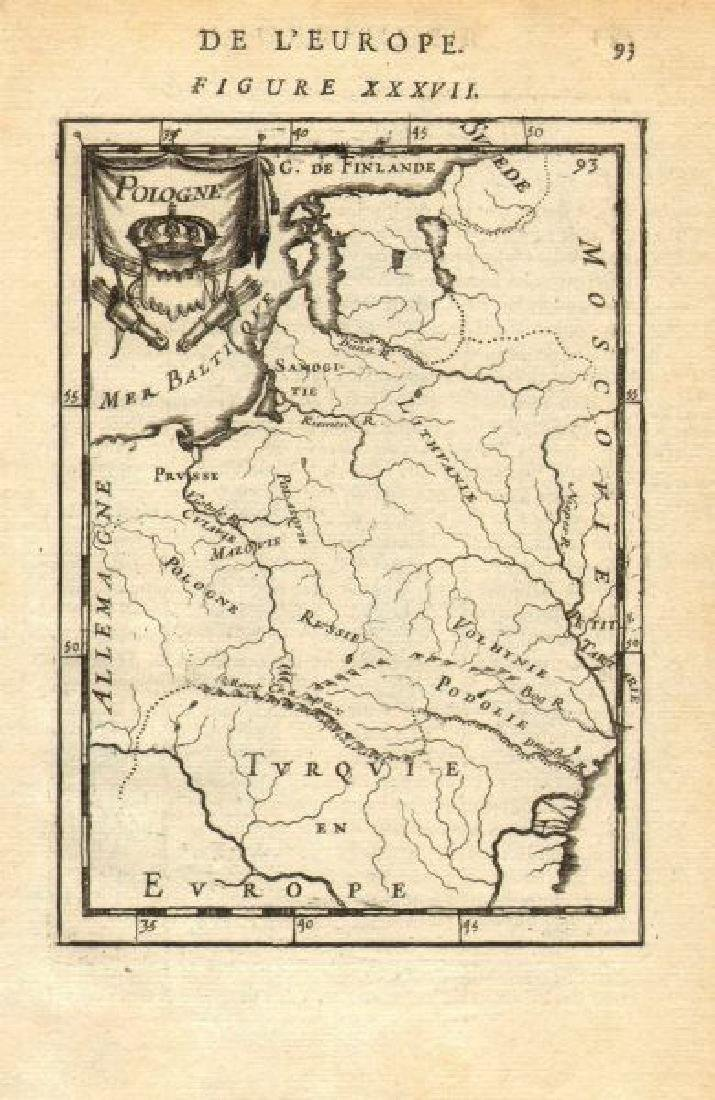 Mallet: Antique Map of Polish-Lithuanian Commonwealth