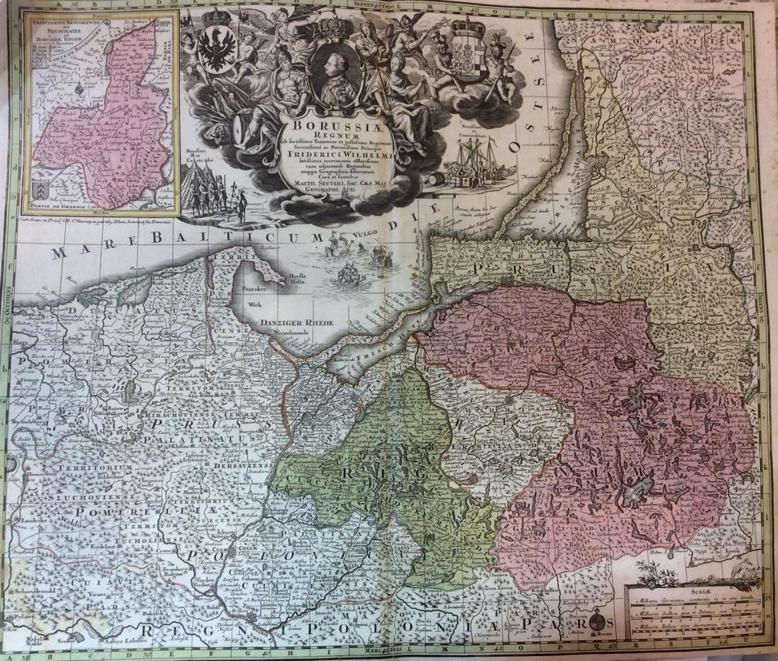 Seutter: Antique Map of East Prussia, 1740