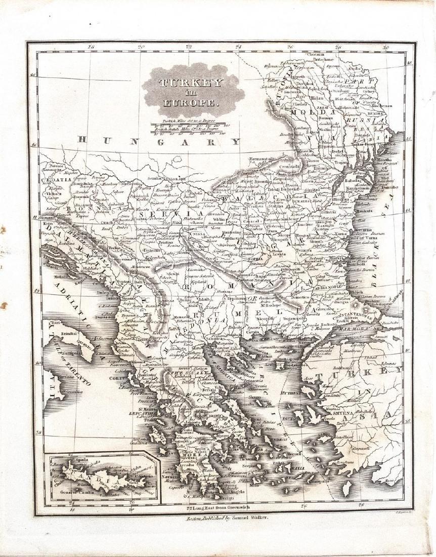 Malte-Brun/Walker: Antique Map of Turkey in Europe 1834