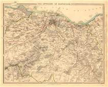 SDUK: Antique Map of Edinburgh & Environs, 1847