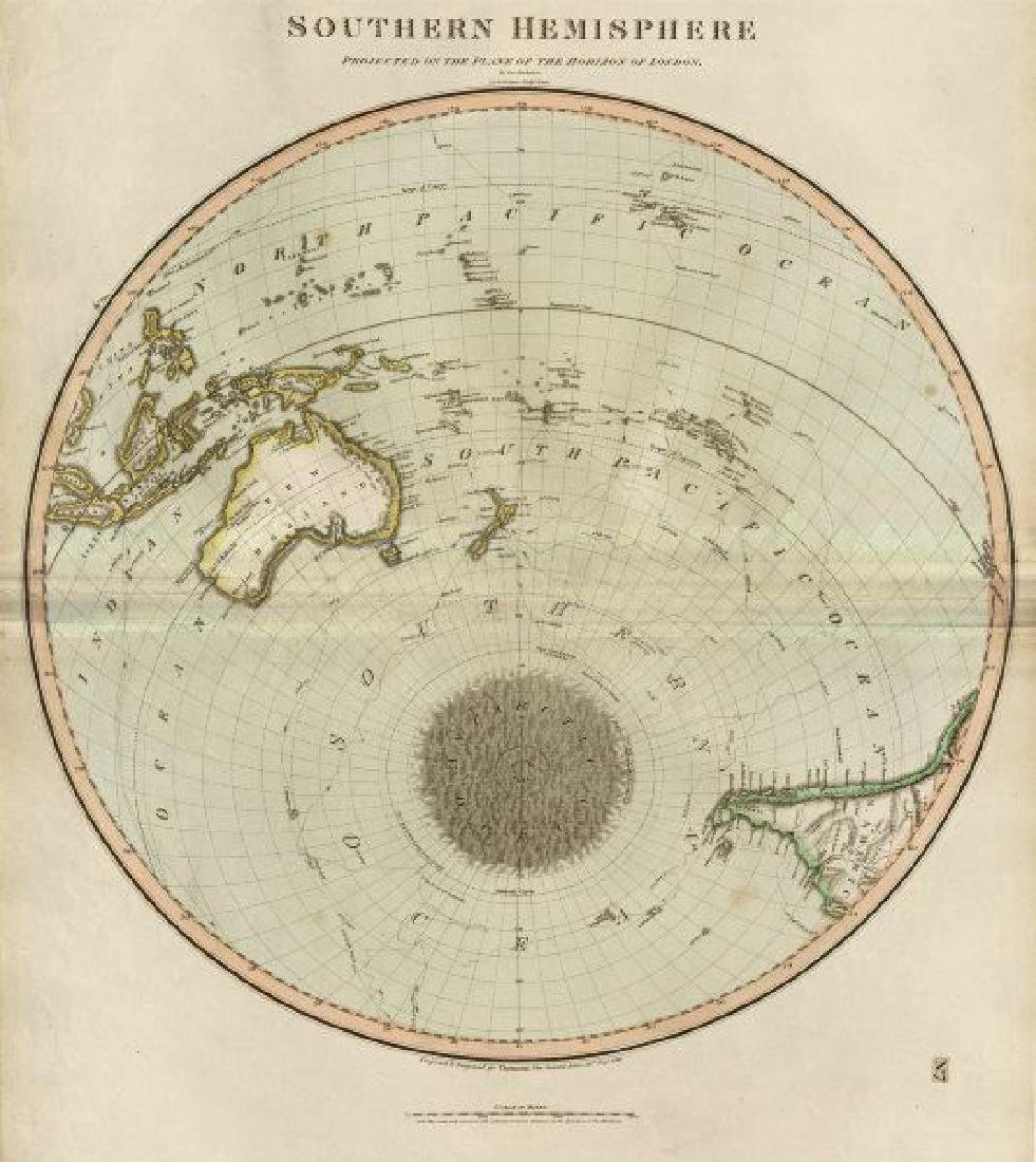 Thomson: Antique Map of the Southern Hemisphere, 1817
