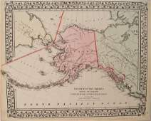 Mitchell: Antique Map of Alaska, 1871