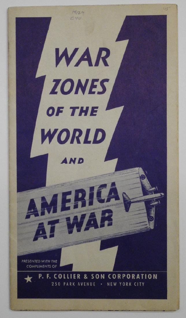 Vintage WWII Colliers War Map of Europe, 1942
