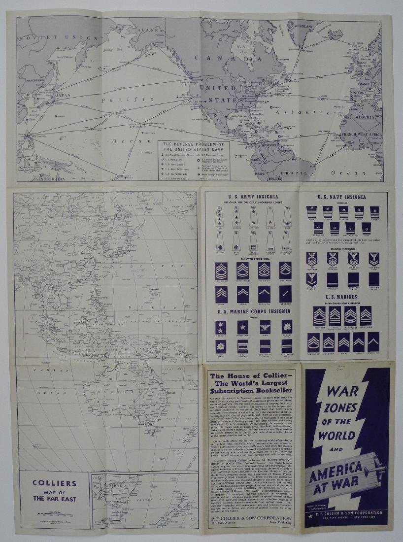 Vintage WWII Colliers War Map of Europe, 1942 - 3