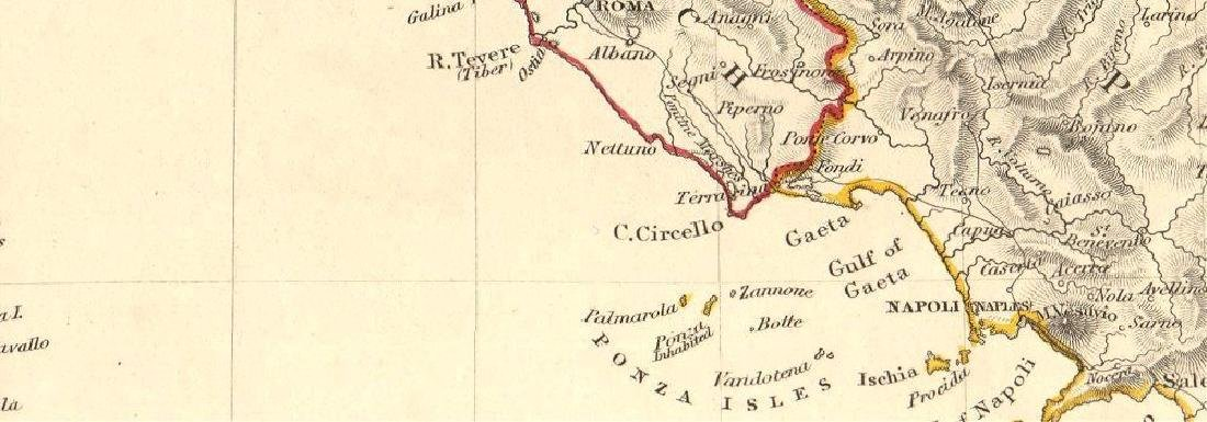 SDUK: Antique Map of Italy, 1845 - 2