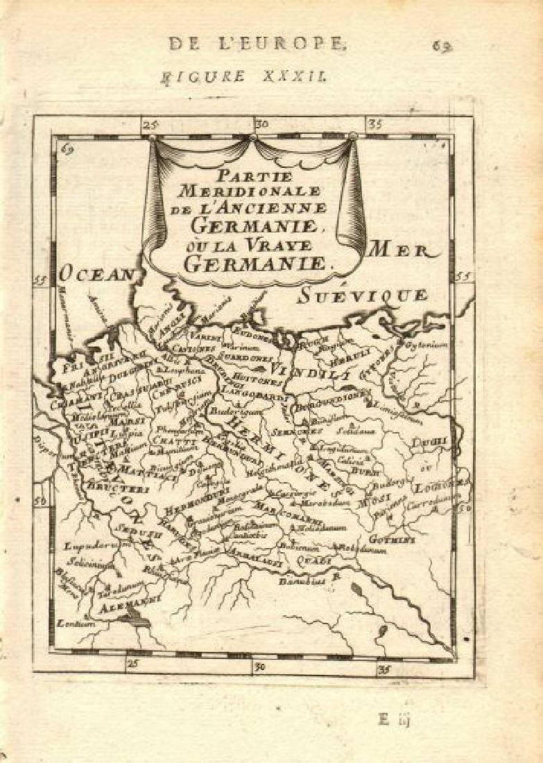 Mallet: Antique Map of Germanic Tribes, 1683