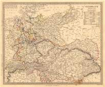 SDUK: Antique General Map of Germany, 1845
