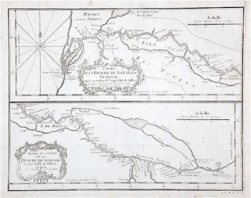 Senegal River Africa Map.Bellin Antique Map Of West Africa Senegal River 1740
