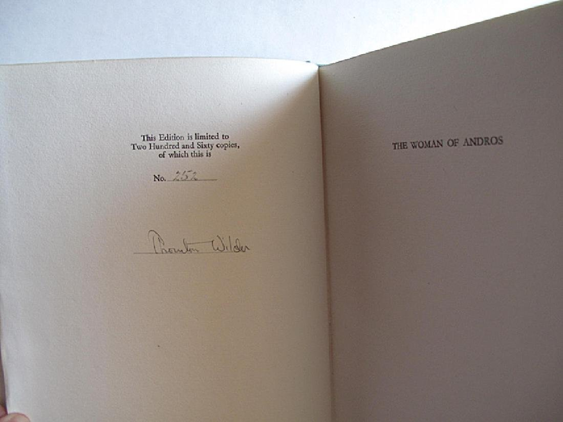 Woman of Andros Limited Edition Signed Thornton Wilder