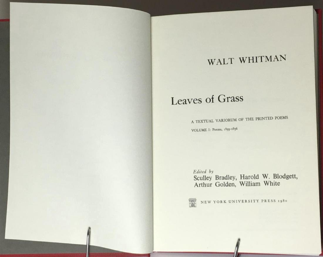Leaves of Grass Textual Variorum Poems Walt Whitman - 3