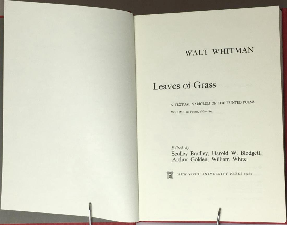 Leaves of Grass Textual Variorum Poems Walt Whitman - 5