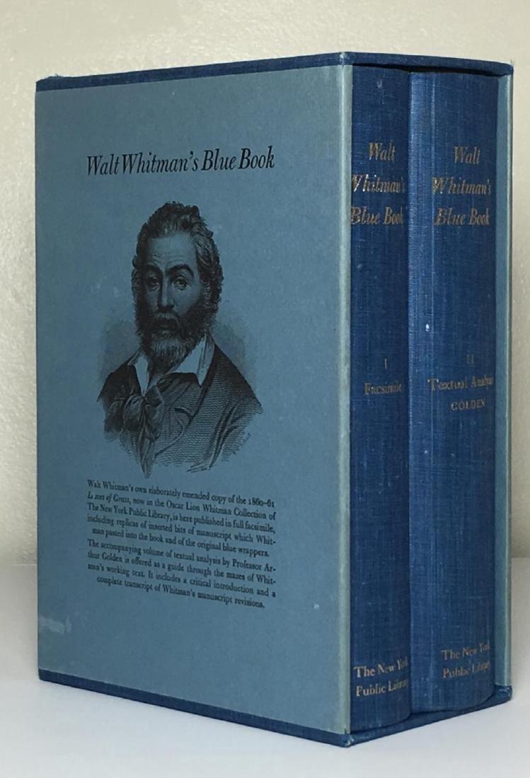 Walt Whitman's Blue Book 2 Volumes 1968