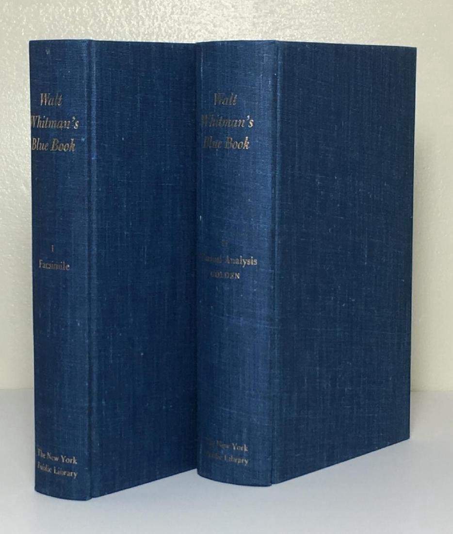 Walt Whitman's Blue Book 2 Volumes 1968 - 2