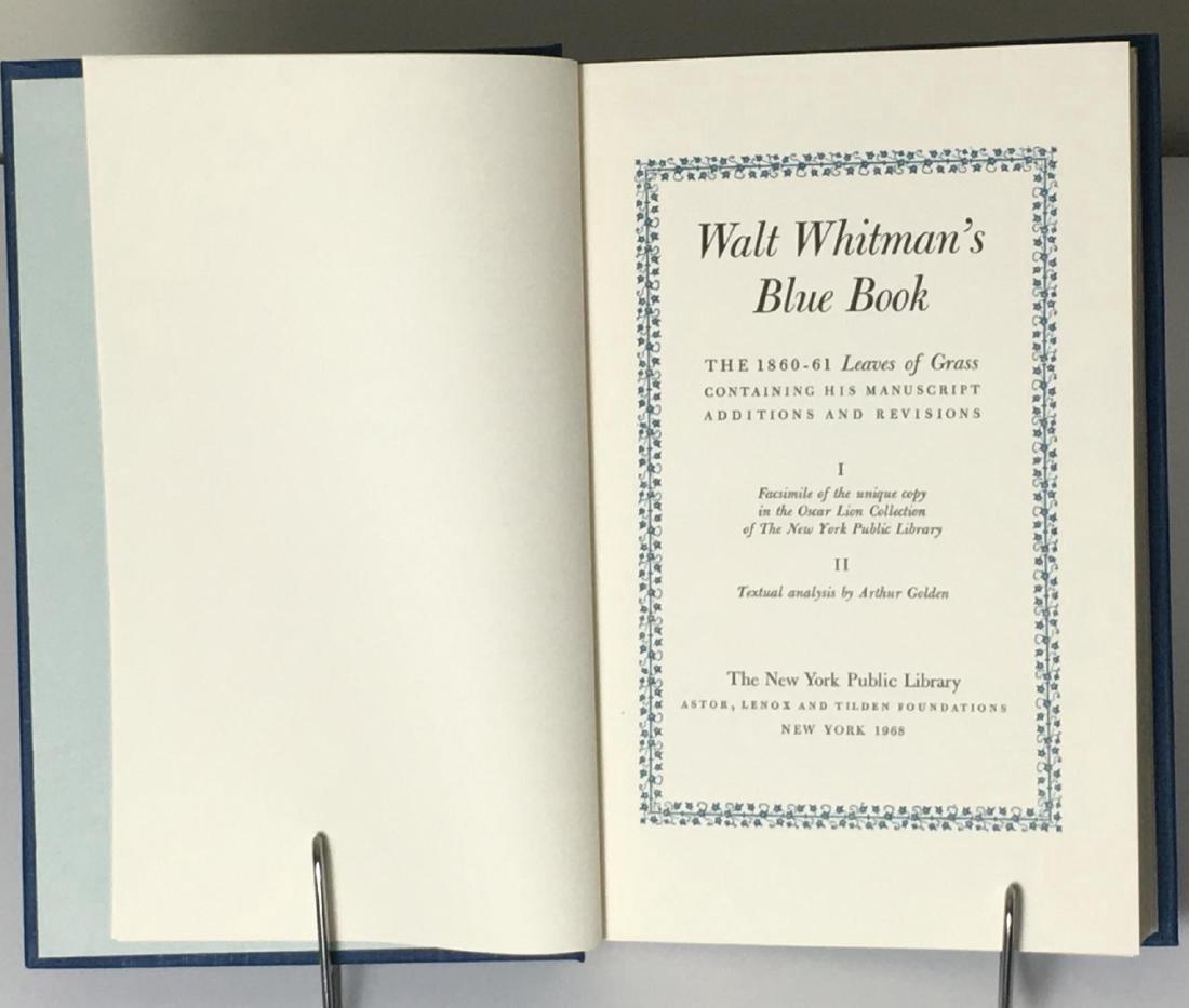 Walt Whitman's Blue Book 2 Volumes 1968 - 3