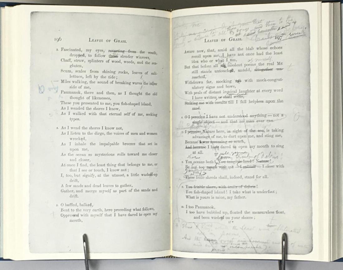Walt Whitman's Blue Book 2 Volumes 1968 - 4