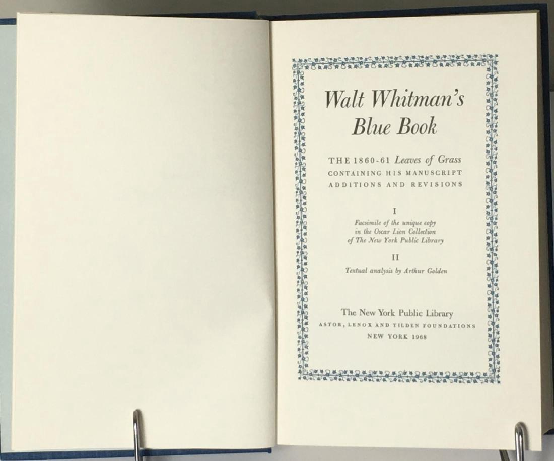 Walt Whitman's Blue Book 2 Volumes 1968 - 5